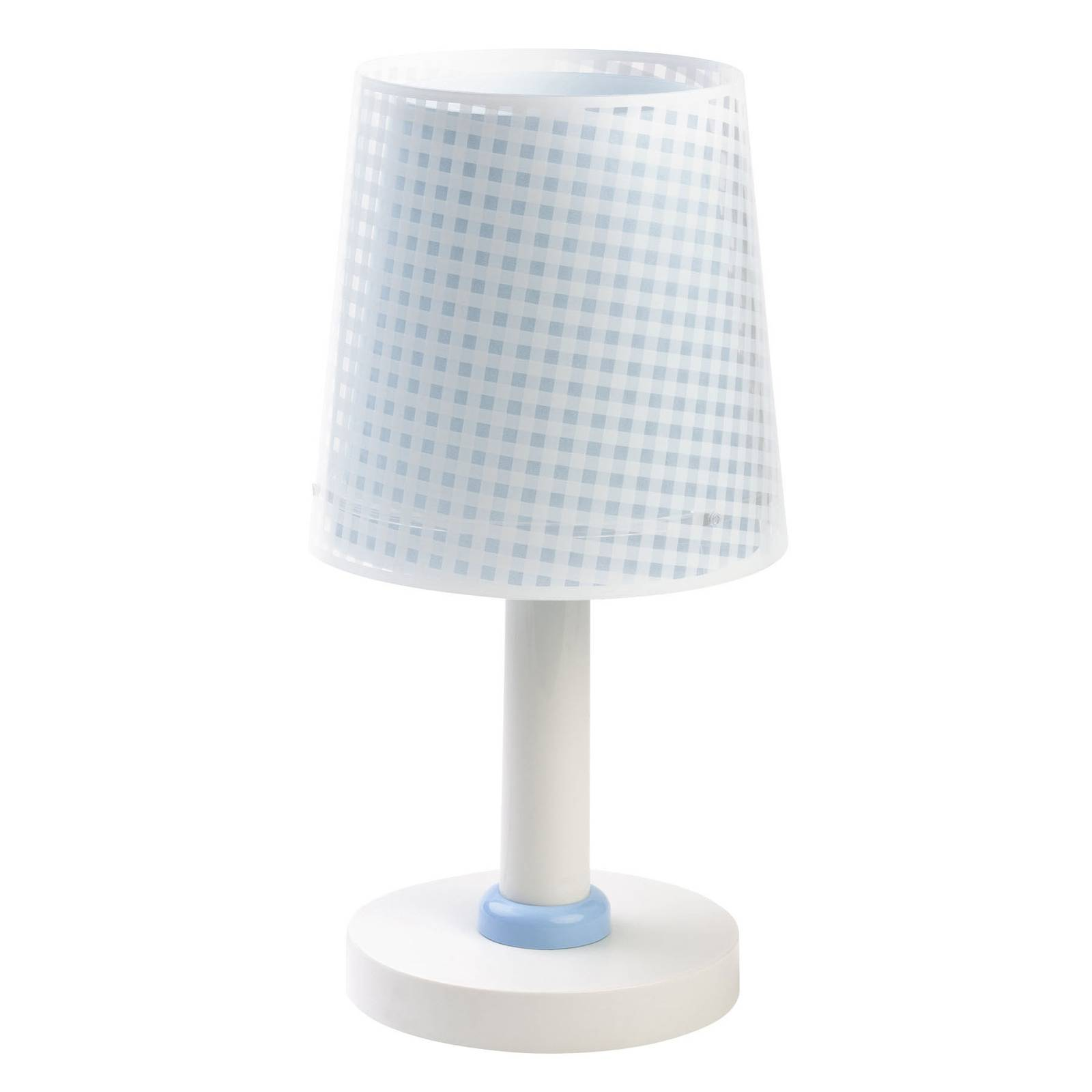 Vichy bordlampe til børneværelset, blå