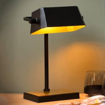 Tafellamp Lance zwart, goud mat