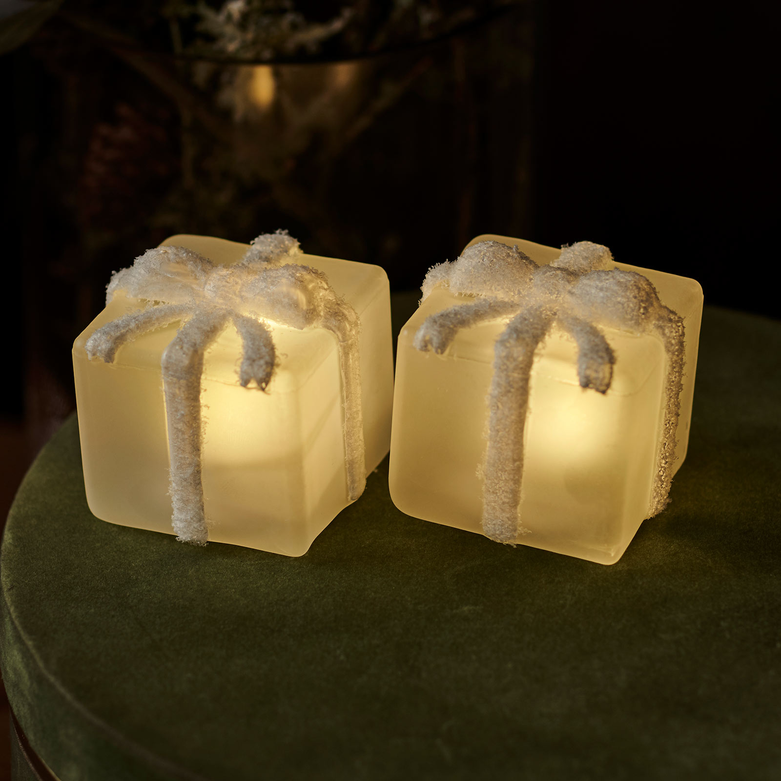 LED sfeerlamp Santa cadeaus 2 per set
