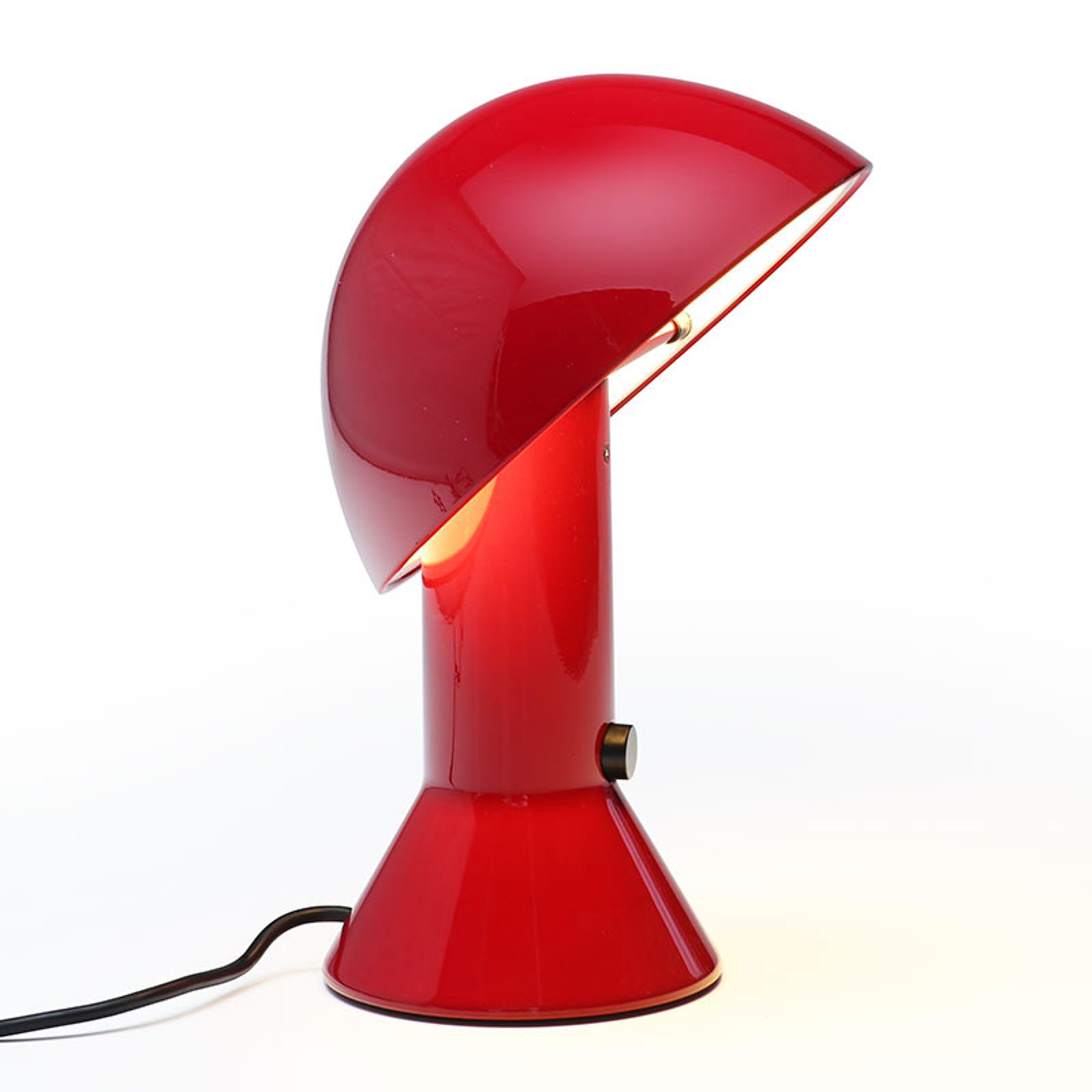 Design-tafellamp ELMETTO, robijn