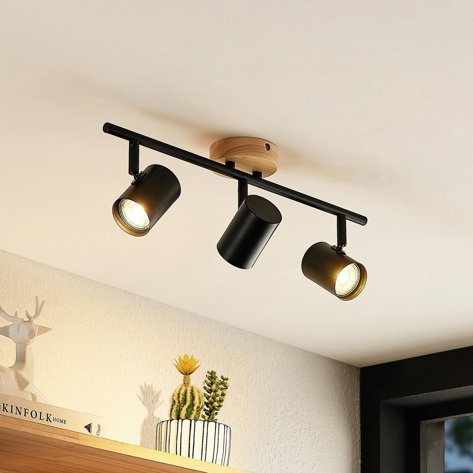 Lindby Xiomara LED-Deckenleuchte, dreiflammig
