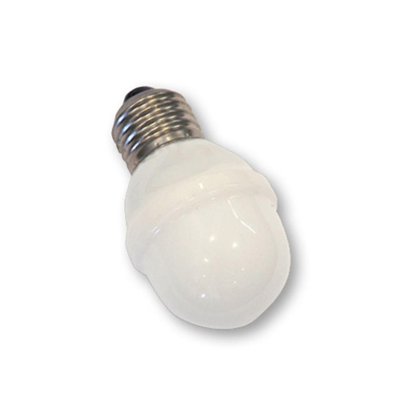 E27 Golfball-Lampe 1W 5,5 VA, warmweiß