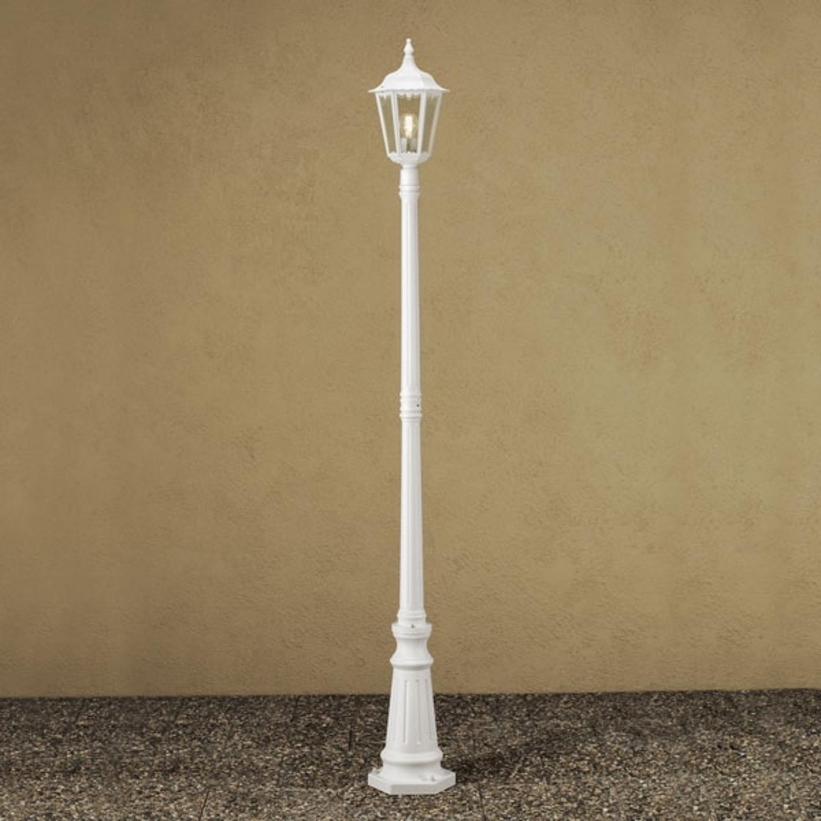Lyktstolpe Firenze, 1 lampa, vit