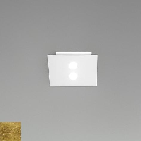 Kleine led-plafondlamp Slim, 2-lichts