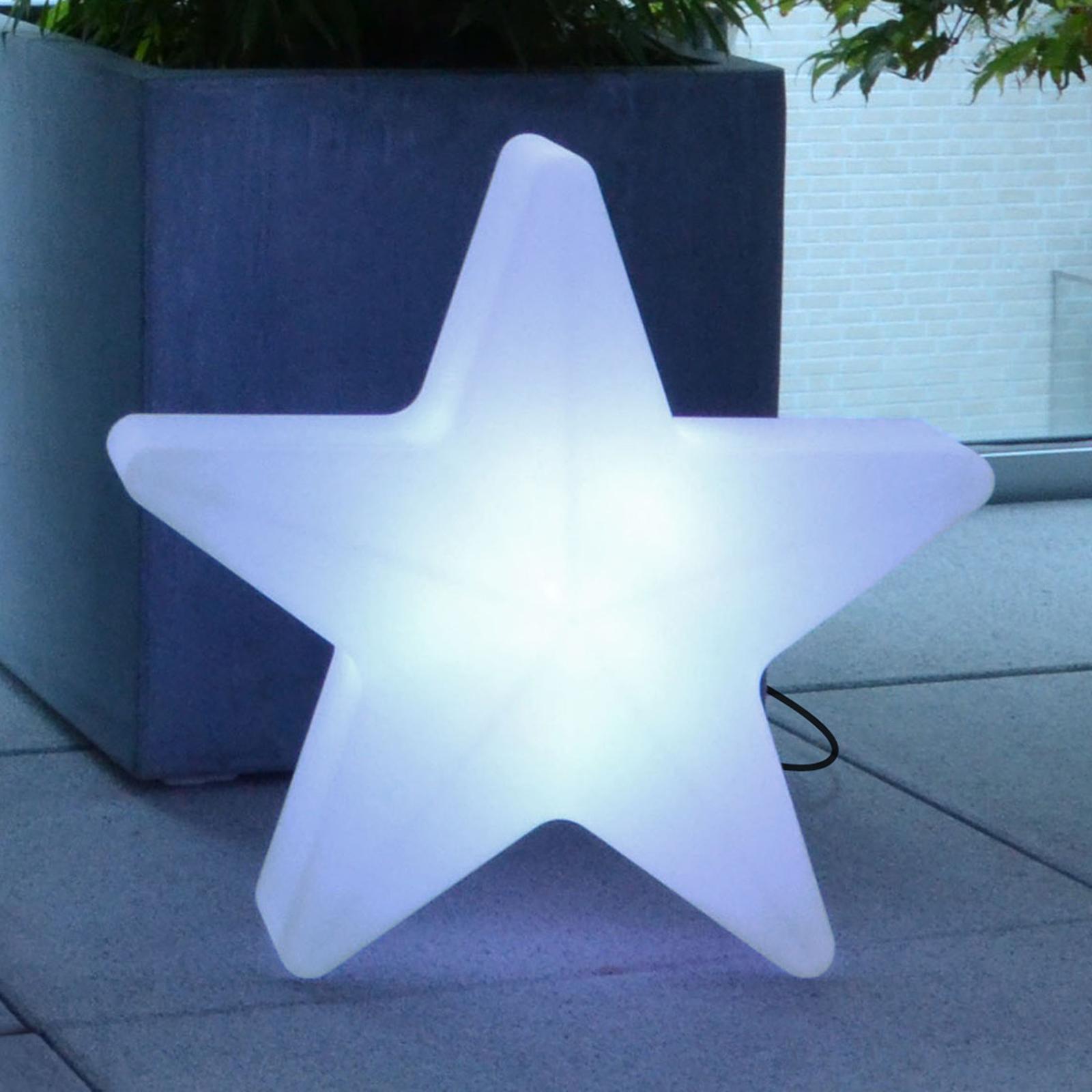 Star LED-dekorationsstjerne med ledning