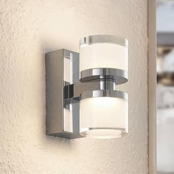 Arcchio Kejan LED-vägglampa IP44 2 lampor hög