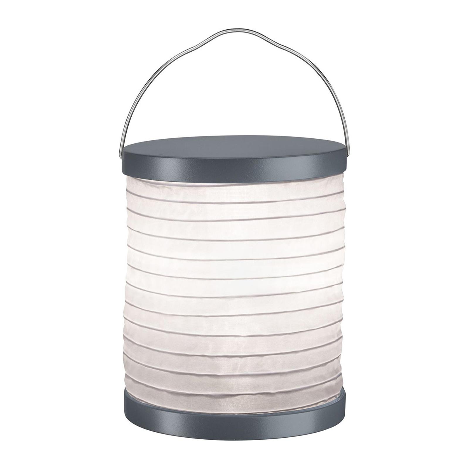 Paulmann Mobile Lampion Tischlampe Akku grau