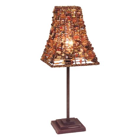 Lámpara de mesa Bella con pantalla/pie cuadrados