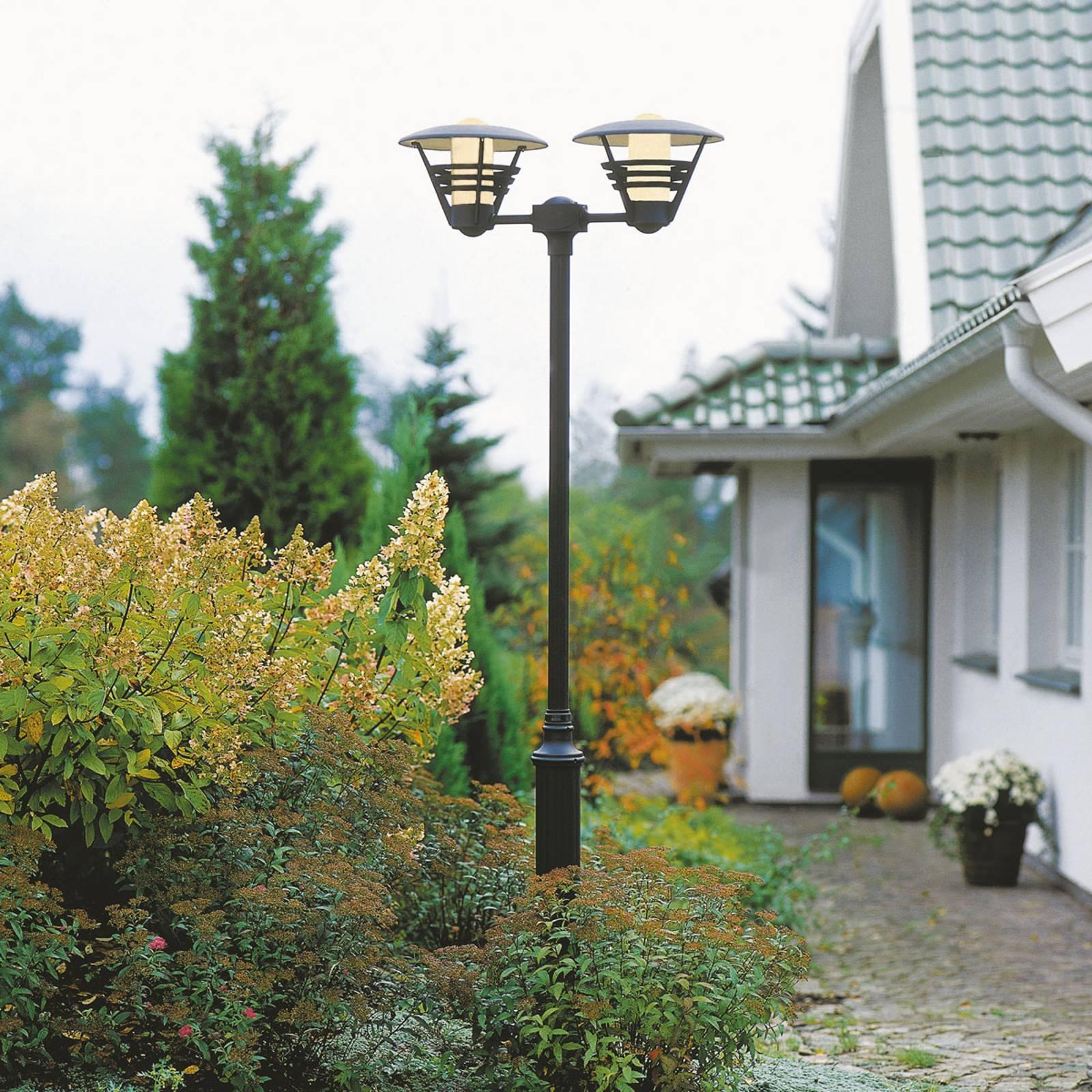 Dwupunktowa latarnia GEMINI, czarna