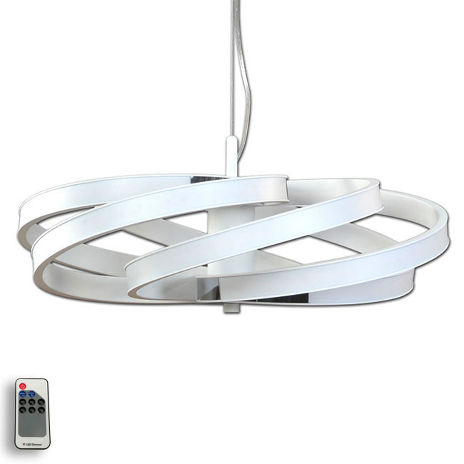 Decoratieve LED hanglamp Zoya, wit
