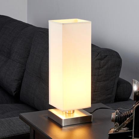 MARTJE - biała lampa stołowa z żarówką LED E14