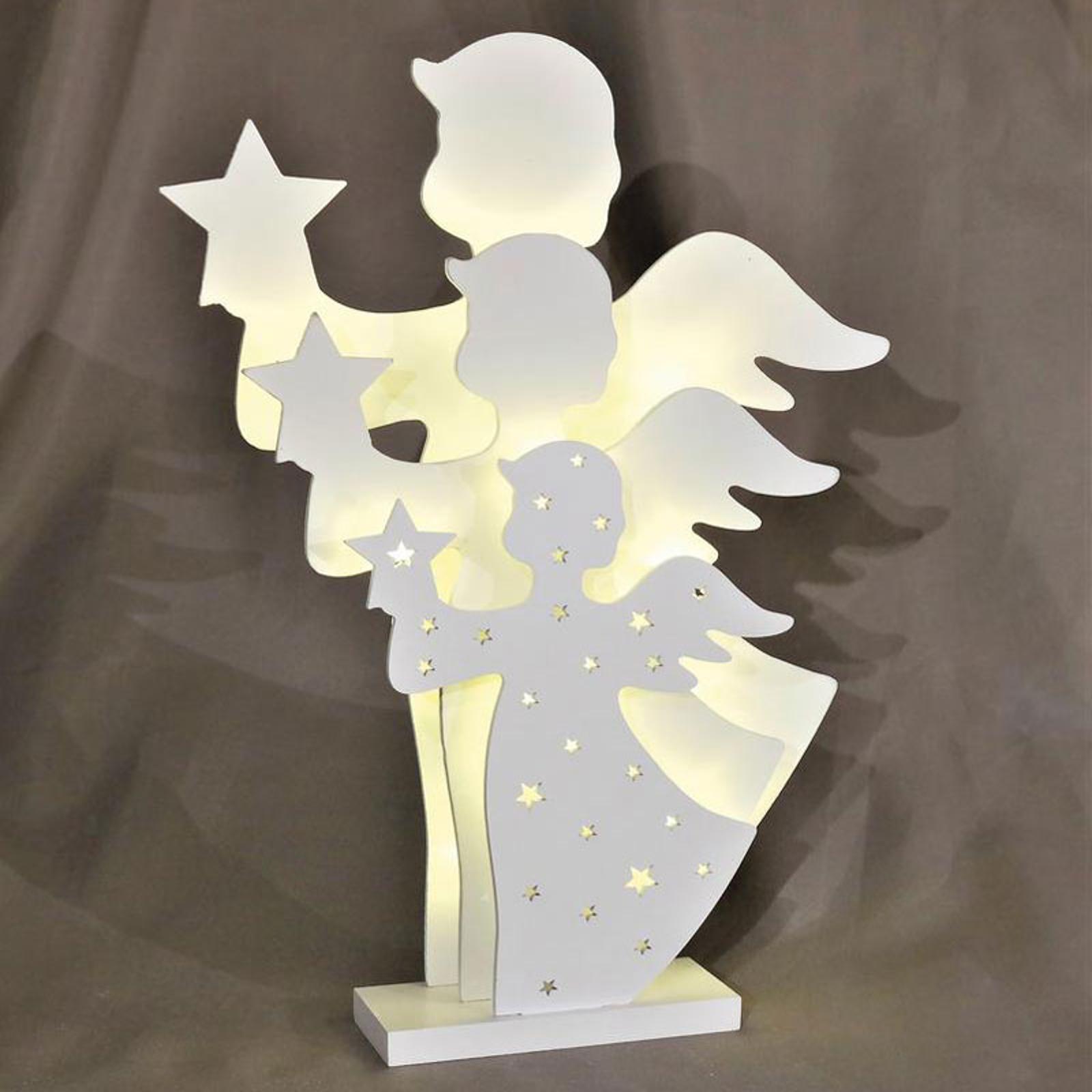 Saico Dekoračná LED lampa 3D anjel