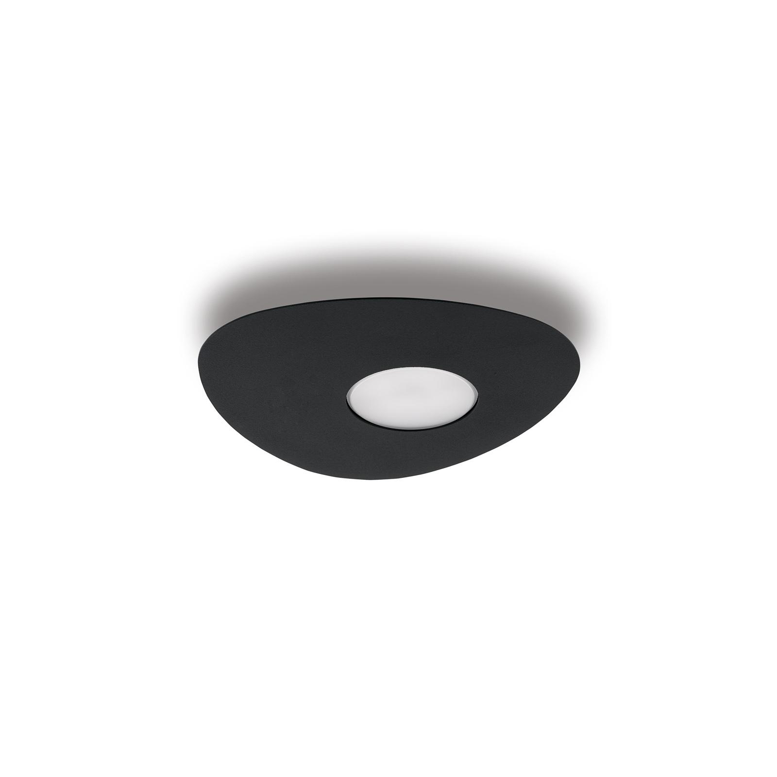 Plafonnier Organic, à 1 lampe, noir