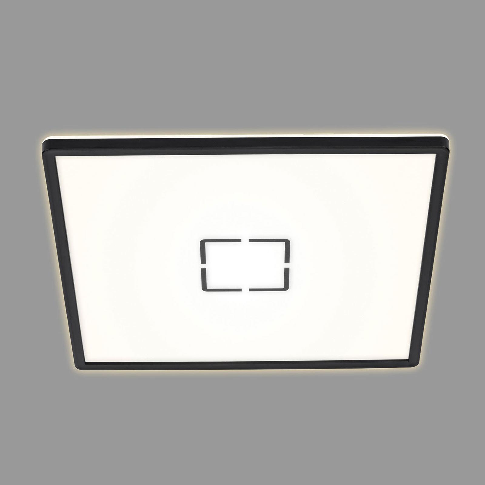 LED-Deckenleuchte Free, 42 x 42 cm, schwarz