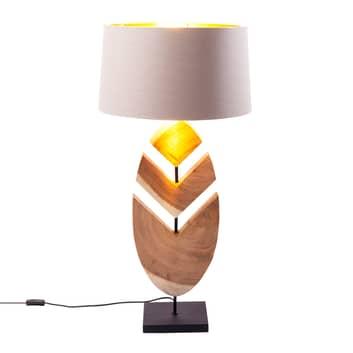 KARE Feather lampa stołowa z drewnem akacji