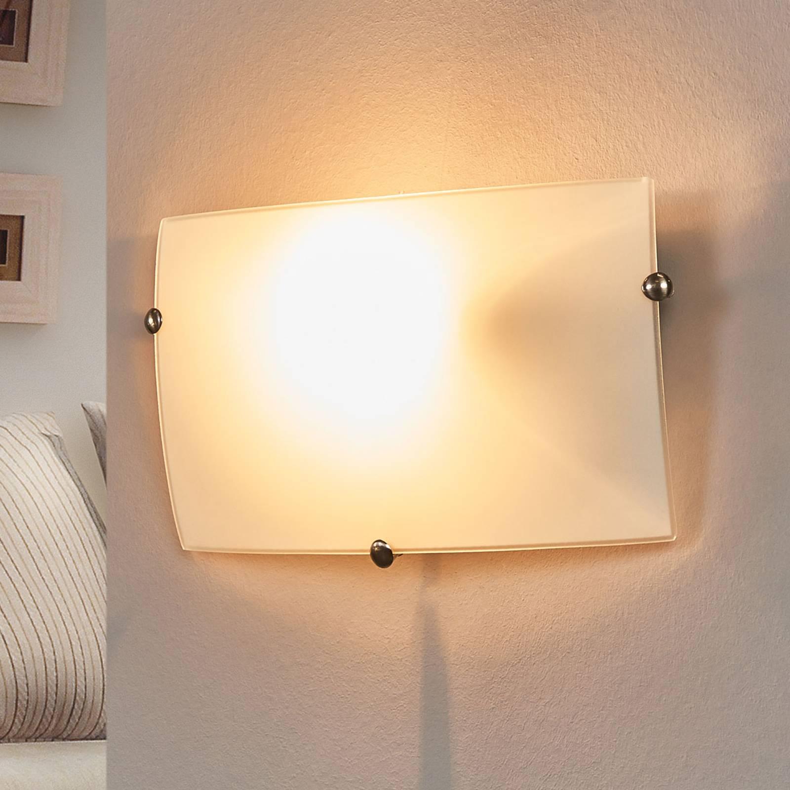 Bescheiden wandlamp Liria-1 van glas