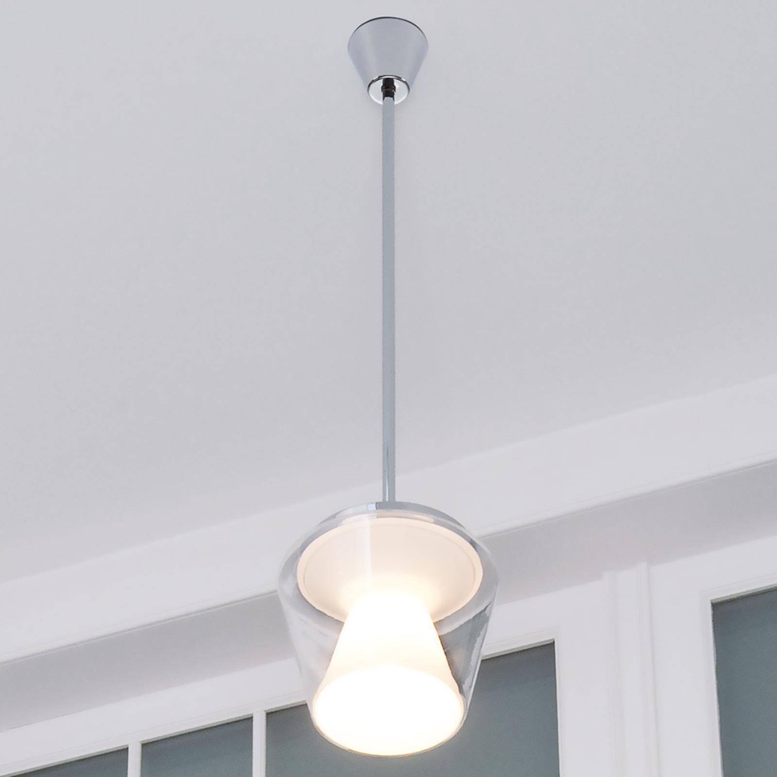 Lampa wisząca LED Annex z kloszem szklanym