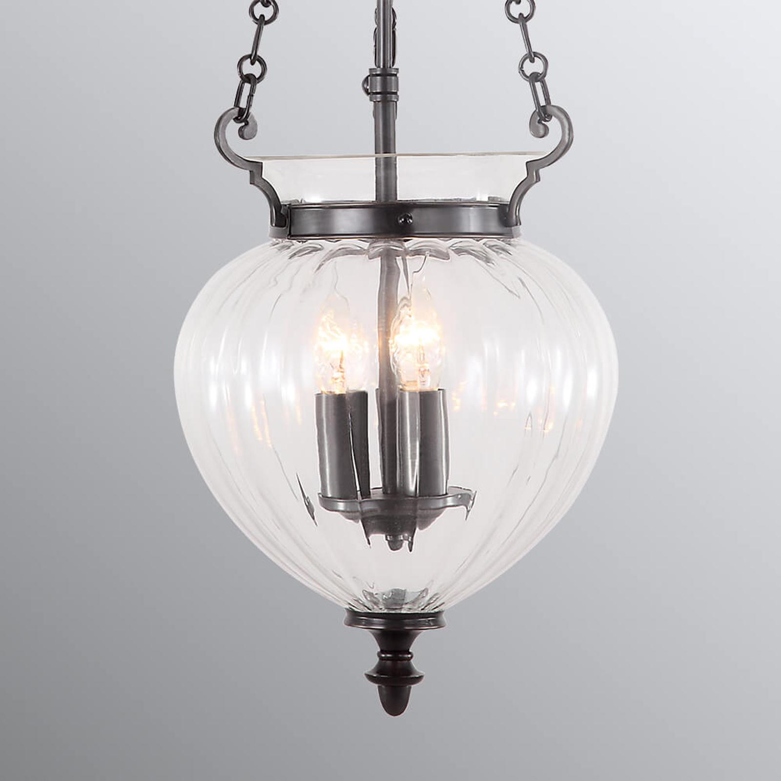 Lampa wisząca Finsbury Park, regulowana, brąz