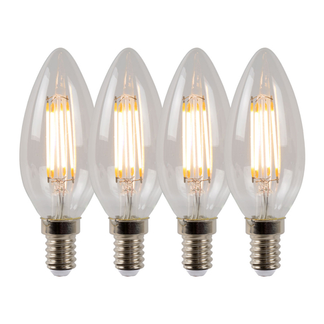 LED-Kerzenlampe E14 4W 2700K dimmbar 4er-Set