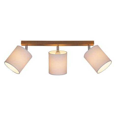Spot pour plafond Corralee blanc à 3 lampes