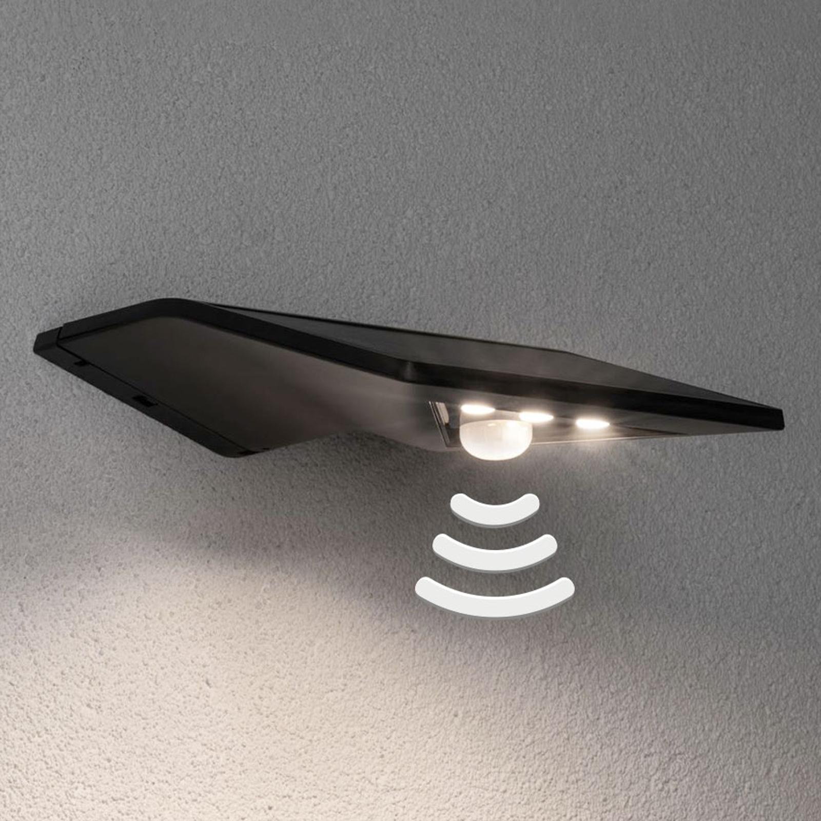 Paulmann Yoko antrasitt utendørs LED-sol-vegglampe