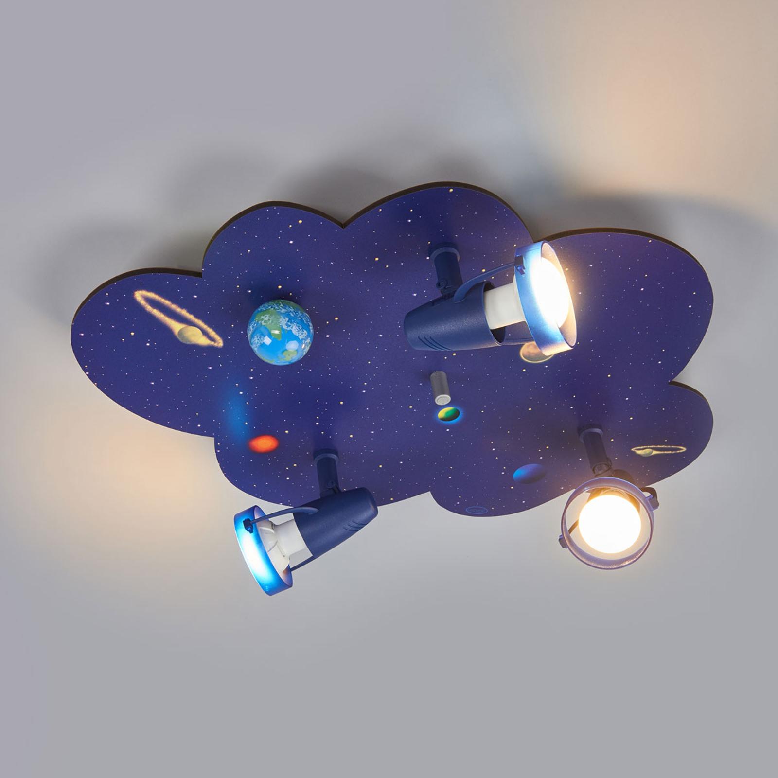 Plafonnier en forme de nuage WELTALL