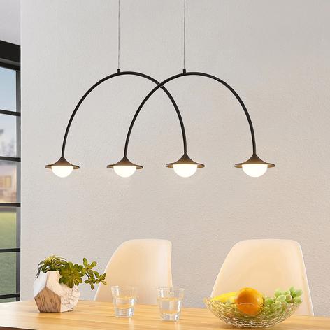 Lucande Avidos LED-Hängeleuchte, schwarz, dimmbar