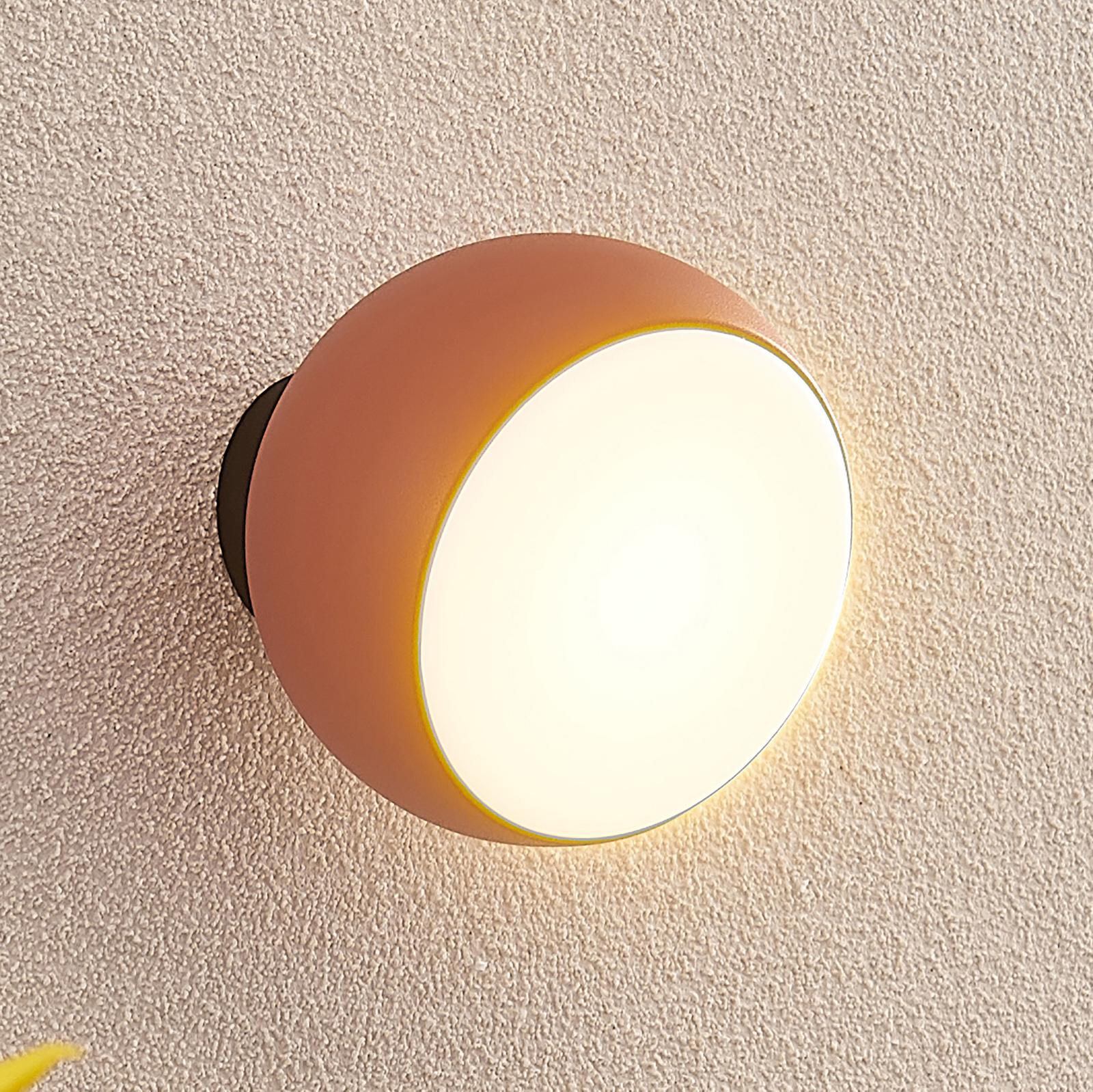 Arcchio Davir LED-væglampe, batteri, orange