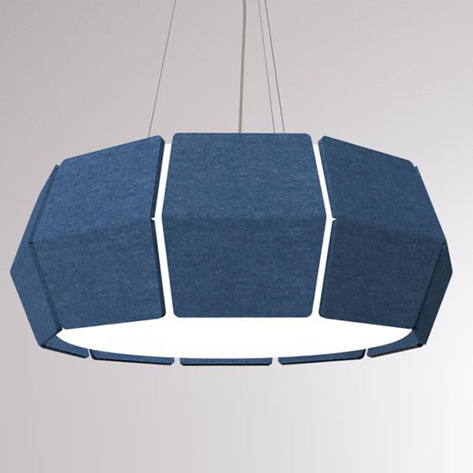 LOUM Decafelt LED hanglamp akoestiek blauw Ø 76 cm