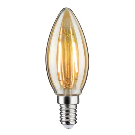 LED-kynttilälamppu E14 2,6W 2500K, kulta