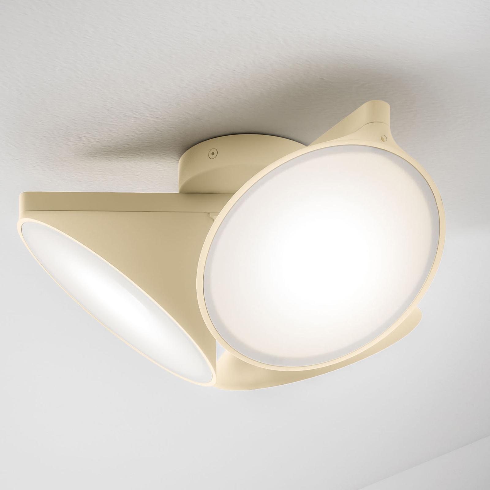 Axolight Orchid lampa sufitowa LED, piaskowa