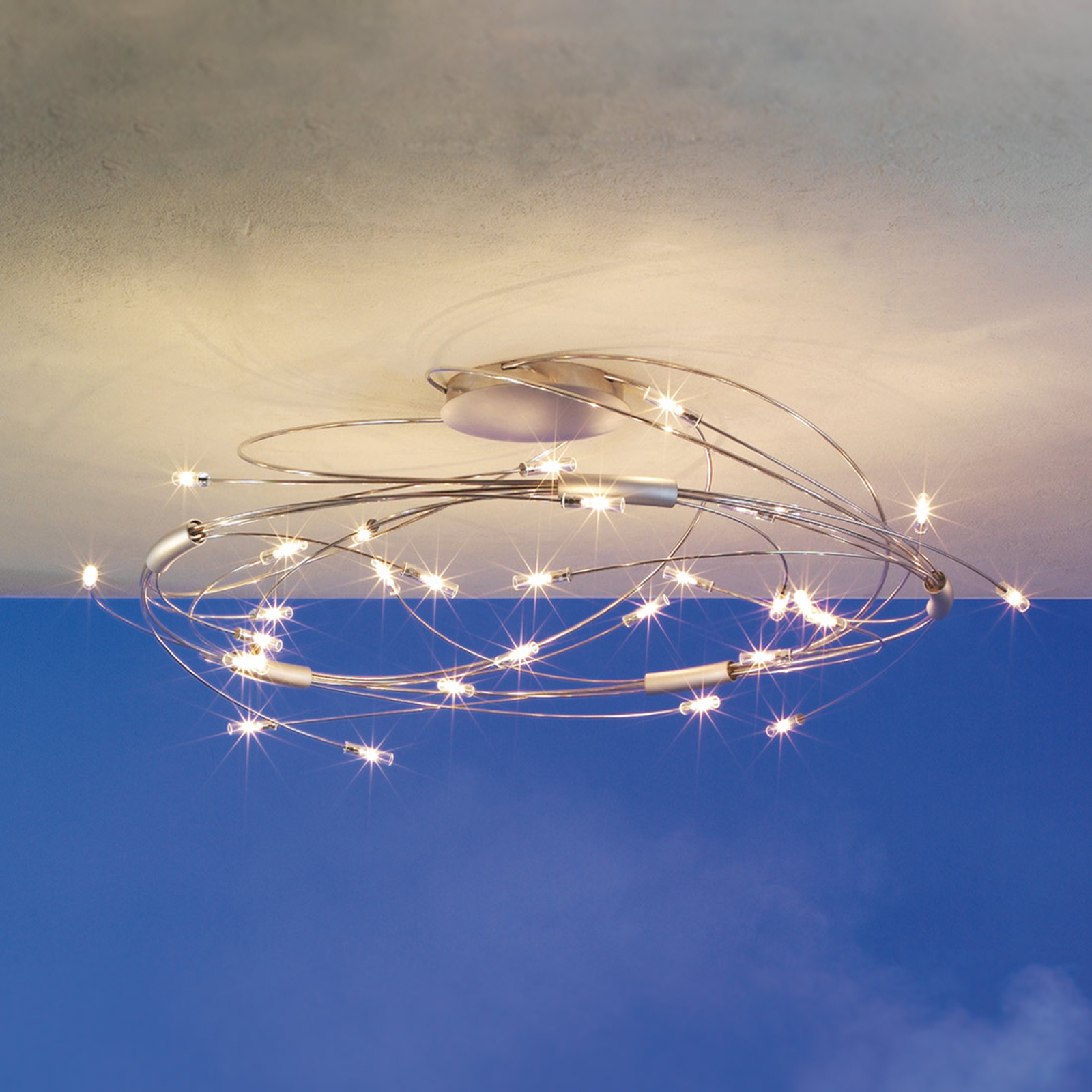 Escale Spin - 30-flammige LED-Deckenlampe