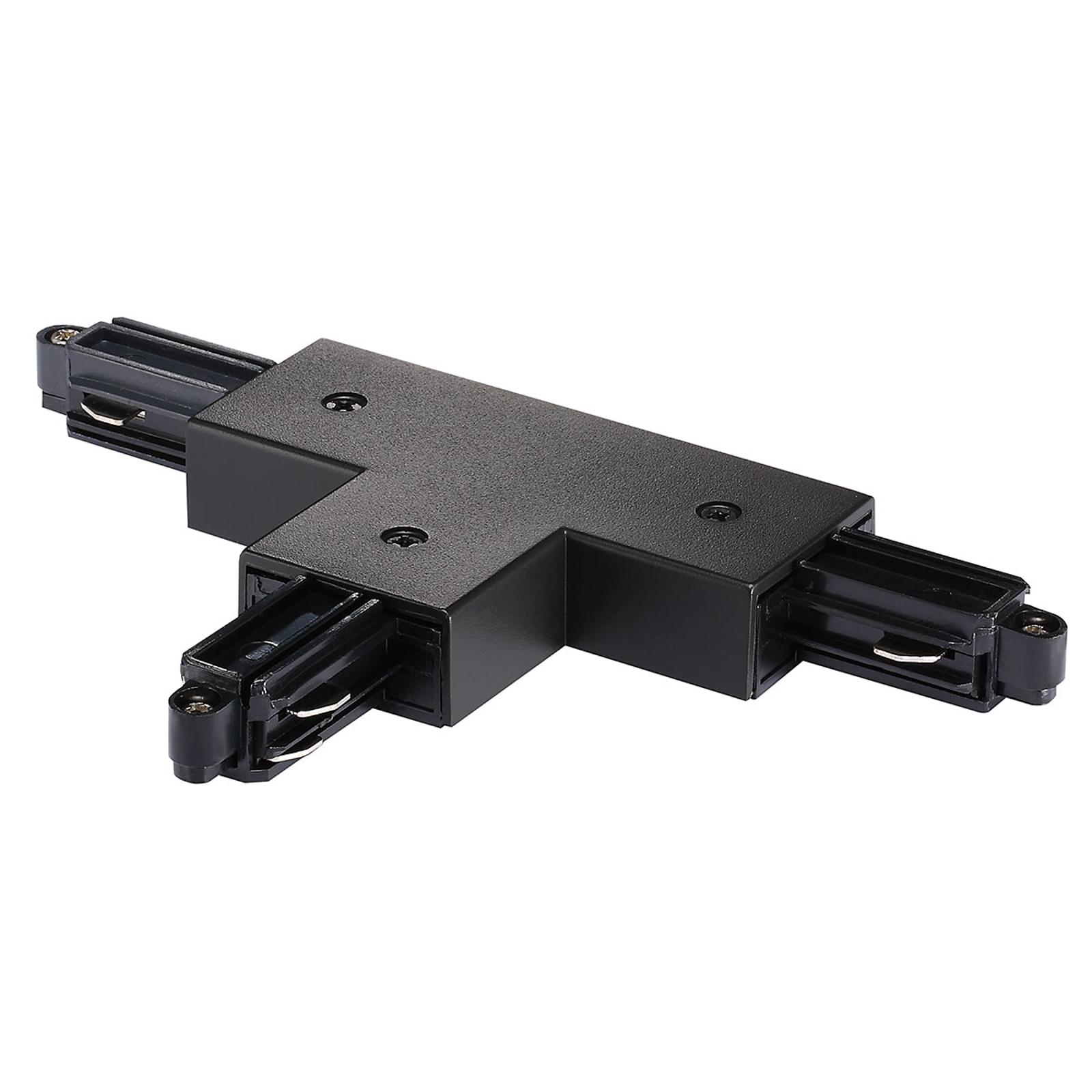 T-kontakt for strømskinne Link, venstre, svart