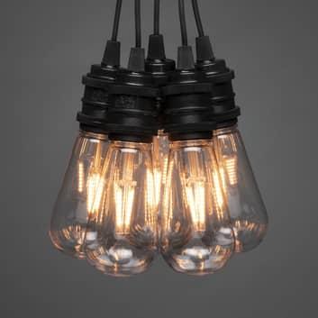 LED světelný řetěz žárovky Globe venkovní 10zdrojů