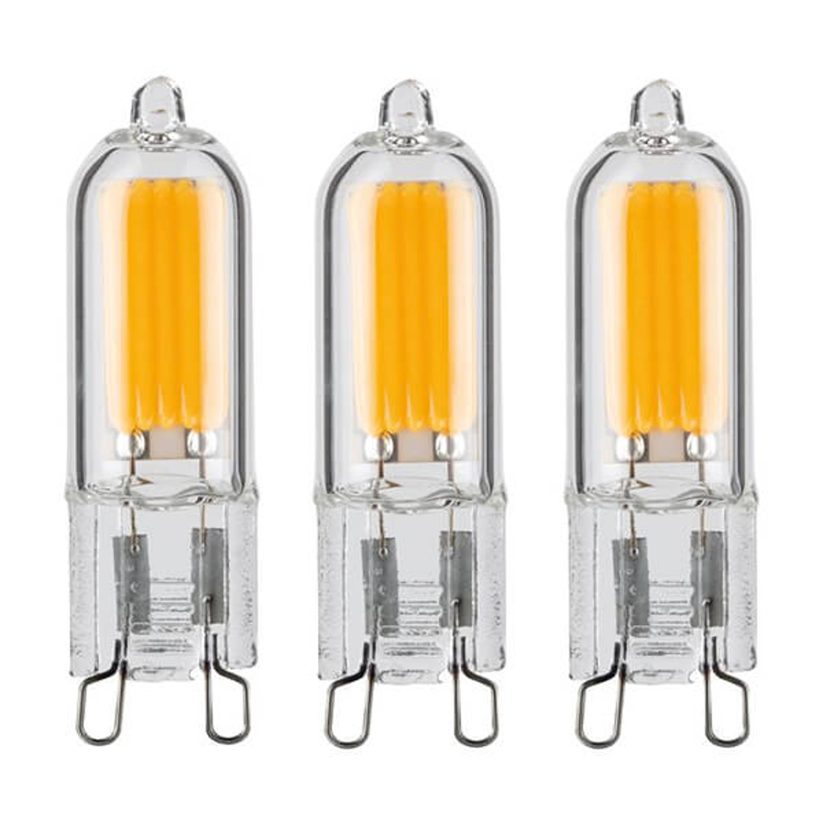 Ampoule à broche LED G9 2W, blanc chaud, set de 3