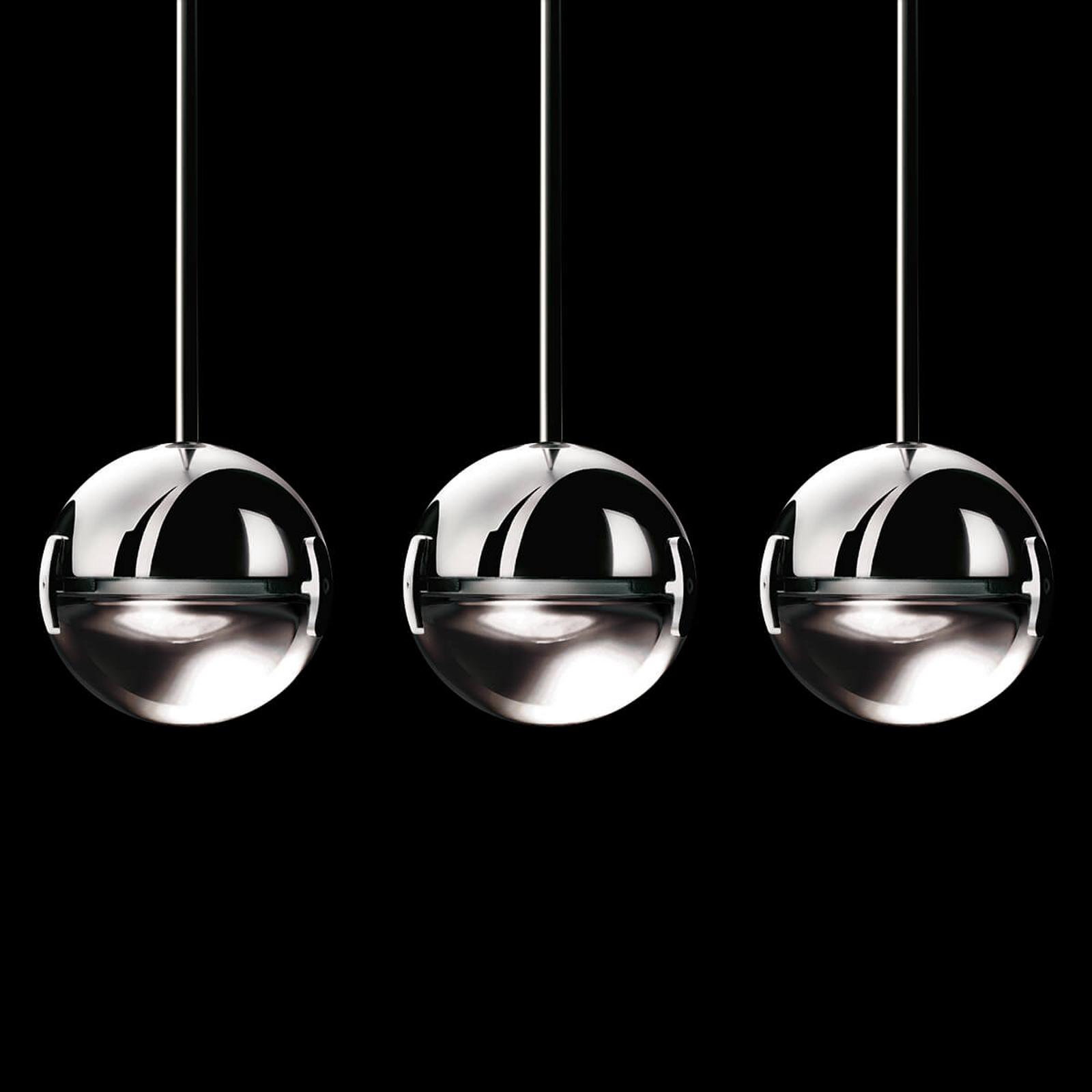 Stilfull LED-hänglampa Convivio, genomskinlig