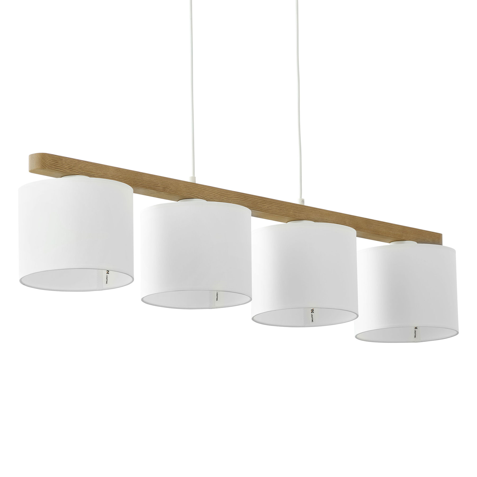 Suspension Troy à quatre lampes, blanche