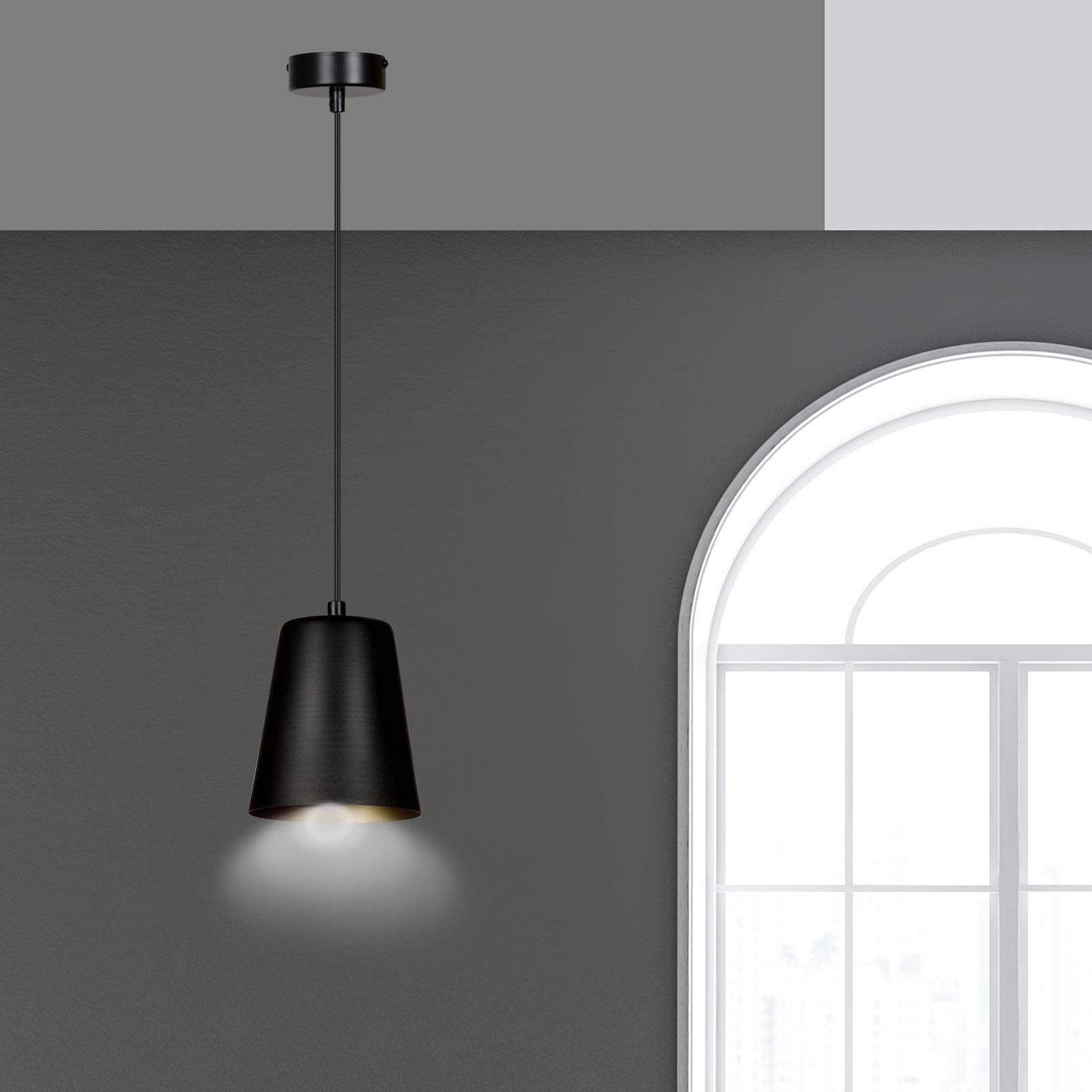 Lampa wisząca Milagro, 1-punktowa, czarna/złota