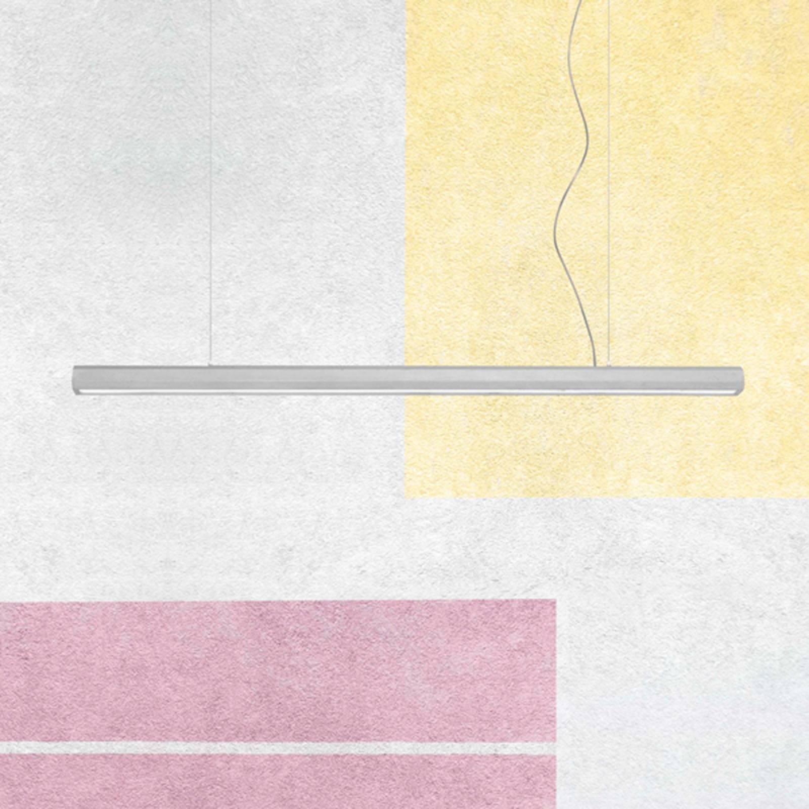 Lampa wisząca LED Materica Stick L, cement, 100 cm