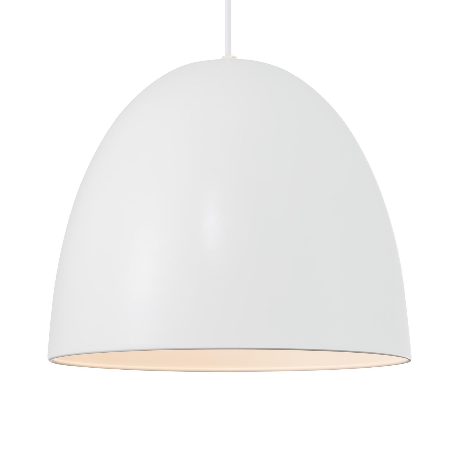 Lampa wisząca Alexander z metalowym kloszem, biała
