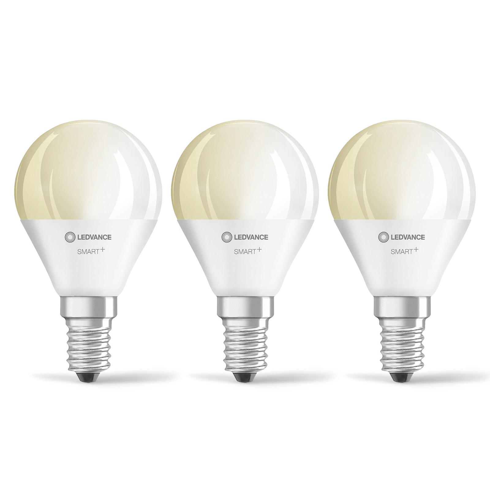 LEDVANCE SMART+ WiFi E14 5W kropla 2700K 3 szt.