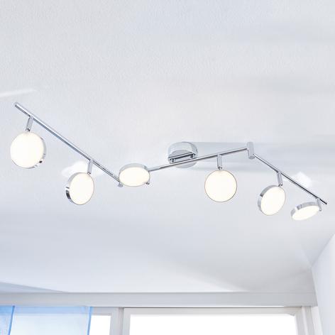 LED-Deckenstrahler Keylan, 6-flammig