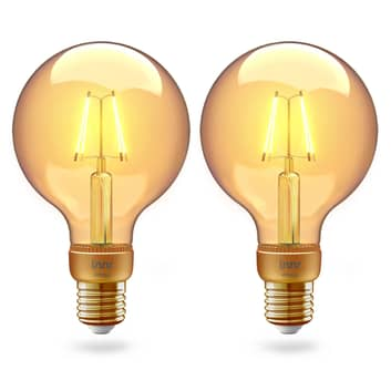 Innr globo LED E27 filamento 2.200K 4,2W oro 2 ud