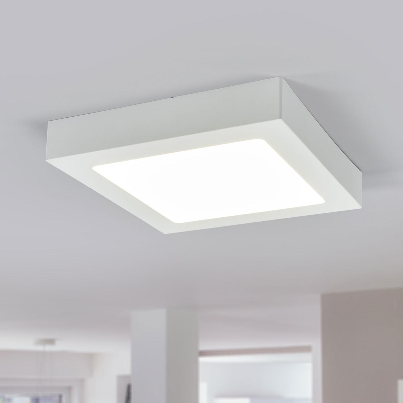 LED-loftlampe Marlo hvid 4000K kantet 23,1cm