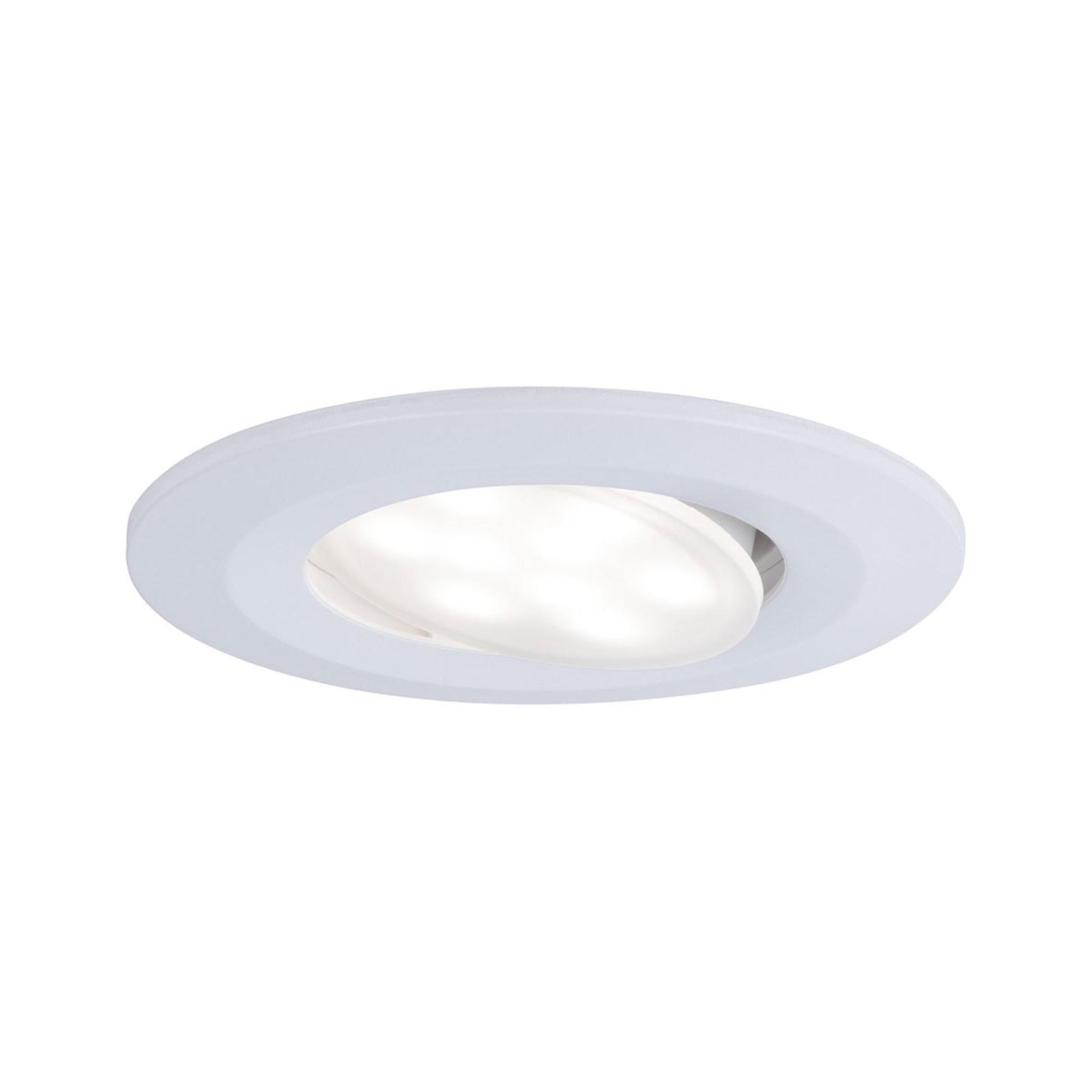 Paulmann udendørs LED-indbygningsspot Calla, hvid