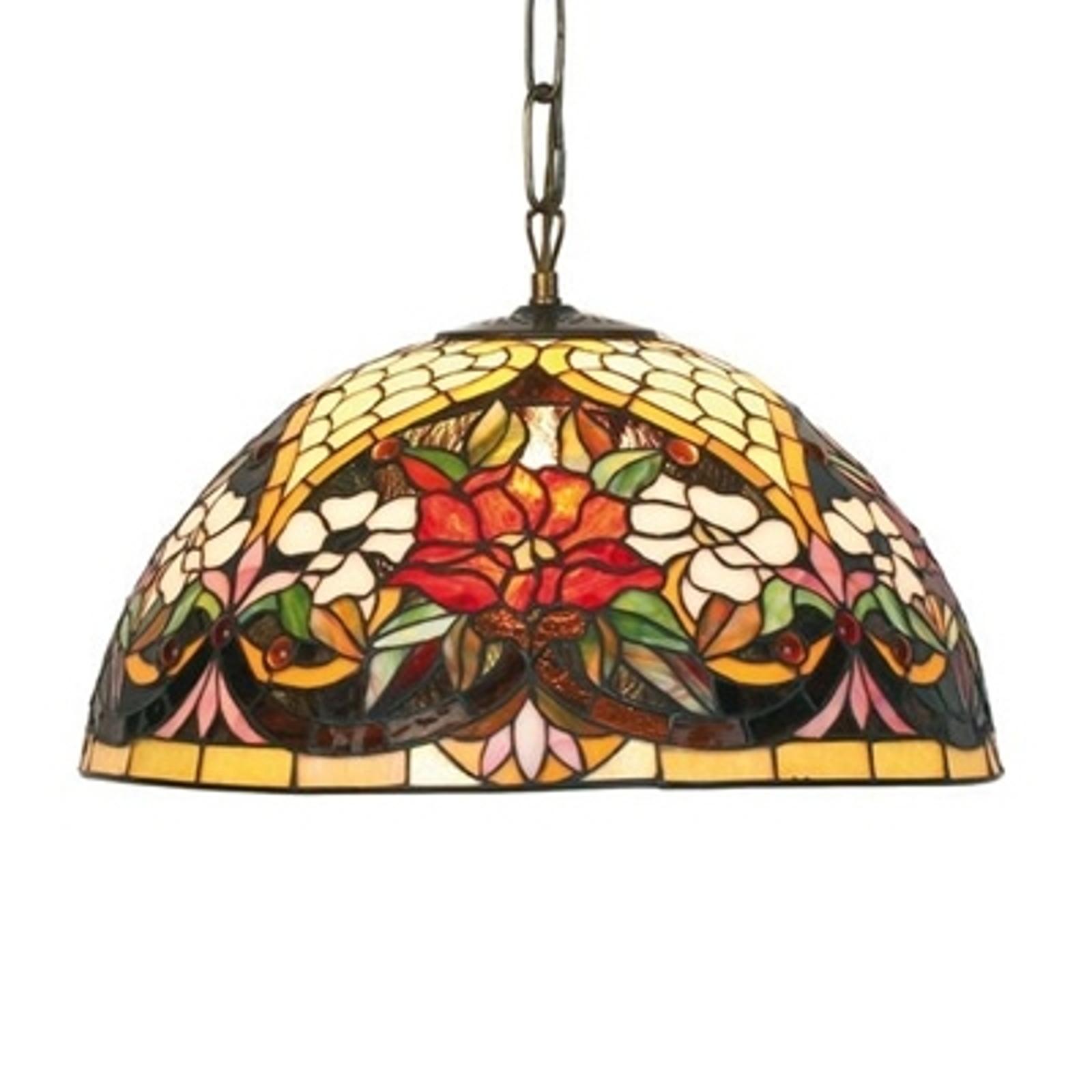 ANTINA blomstret hængelampe, 2 x E27