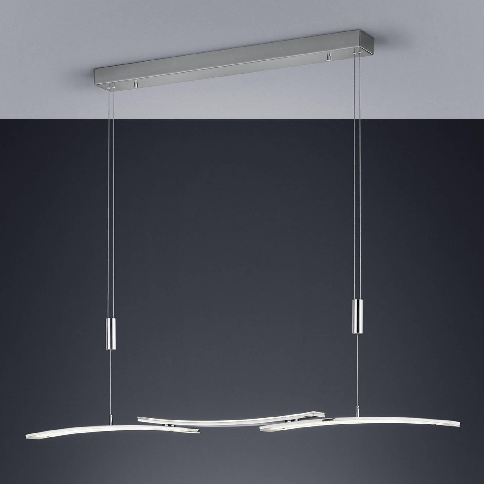 BANKAMP 2138/3-92 lampa wisząca LED, nikiel matowy