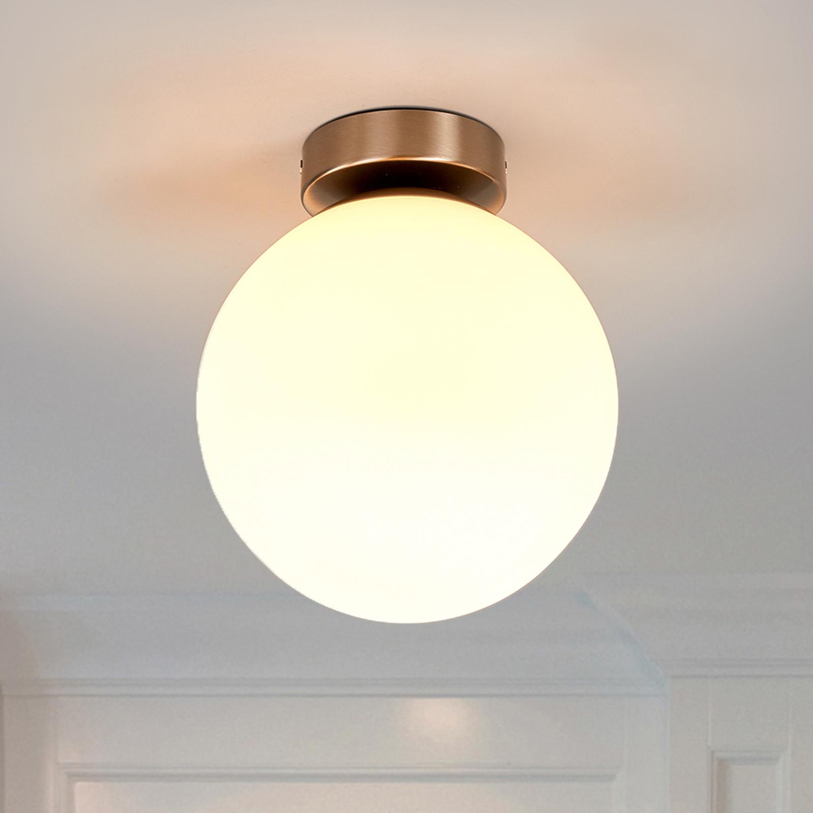 Okrągła, łazienkowa lampa sufitowa Lennie