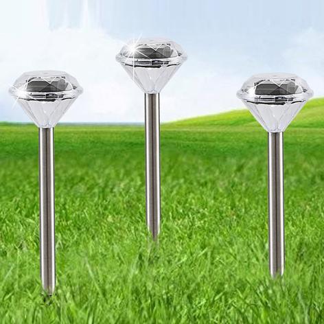 Aurinkokäyttöinen lamppu Lando, 3 kpl/setti