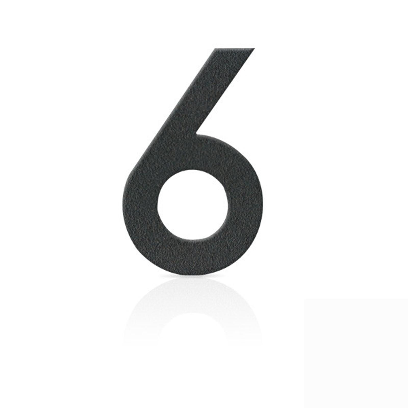 Produktové foto Heibi Nerezová domovní čísla číslice 6, grafit šedý